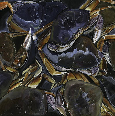 Painting - Got Crabs ? by Sara Stevenson