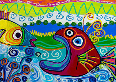 Painting - Got Fish? by Beth Cooper