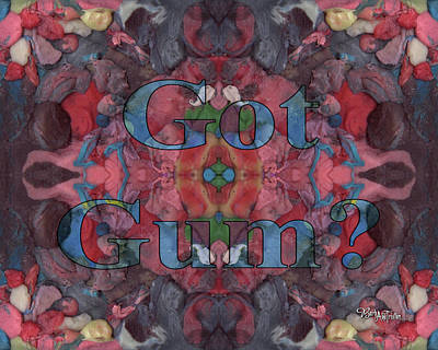 Mixed Media - Got Gum #186 by Barbara Tristan