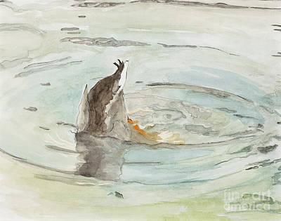 Ducks In Watercolor Painting - Got It by Joan Sharron