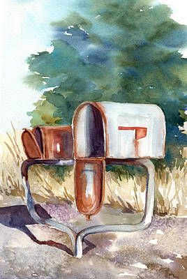 Painting - Got Mail? by Peggy Wilson