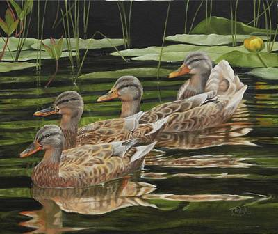 Painting - Got My Ducks In A Row by Tammy Taylor