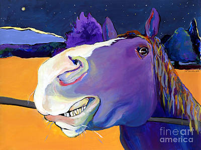 Horses Portrait Painting - Got Oats      by Pat Saunders-White