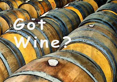 Photograph - Got Wine Oak Barrels by Floyd Snyder