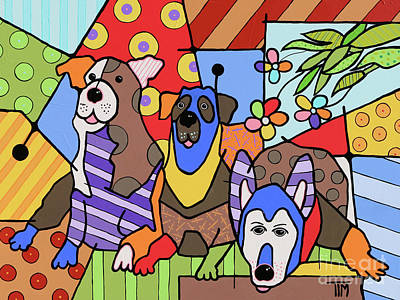 Got Wooofs Art Print by Tim Ross