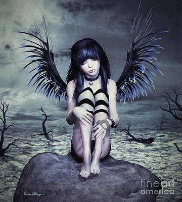 Digital Art - Goth Fairy by Alicia Hollinger