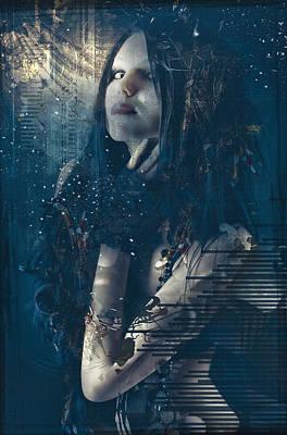 Goth Girl Art Print by Rosemary Smith