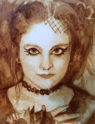 Goth Lady Art Print by Chrissey Dittus
