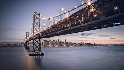 Bay Bridge Digital Art - Gotham City by Eduard Moldoveanu