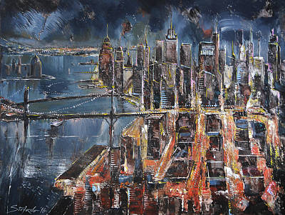 Painting - Gotham City II by Stefano Popovski