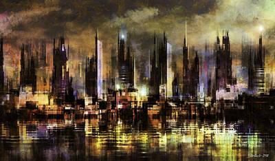 Digital Art - Gotham City IIi by Stefano Popovski