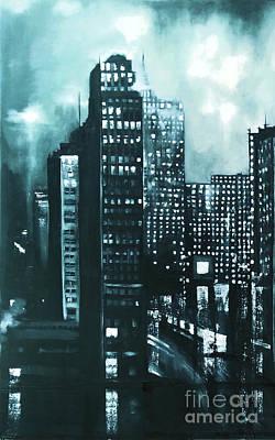 Painting - Gotham Painting by Maja Sokolowska