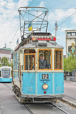 Photograph - Gothenburg Liseberg Tram by Antony McAulay