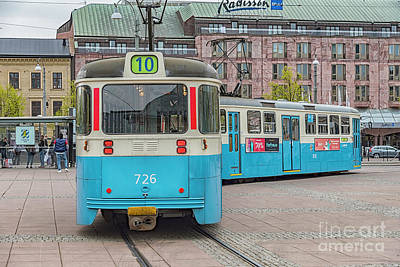 Photograph - Gothenburg Public Tram by Antony McAulay