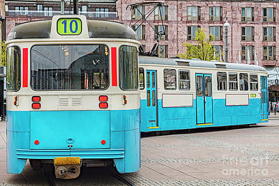 Photograph - Gothenburg Public Tramcar by Antony McAulay