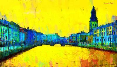Sverige Painting - Gothenburg Sweden - Pa by Leonardo Digenio