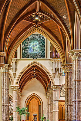 Photograph - Gothic Arches - Holy Name Cathedral - Chicago by Nikolyn McDonald
