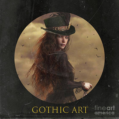 Mixed Media - Gothic Art thmb by Shanina Conway