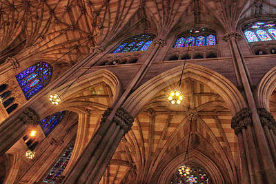 Roman Glass Photograph - Gothic Ceiling by Jessica Jenney