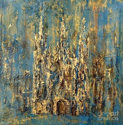 Art Print featuring the painting Gothic Church  by Arturas Slapsys