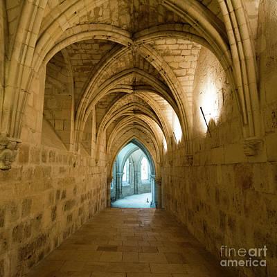 Gothic Church. Crypt. France. Europe. Art Print by Bernard Jaubert