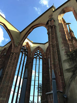 Photograph - Gothic Church Ruins by Nancy Merkle