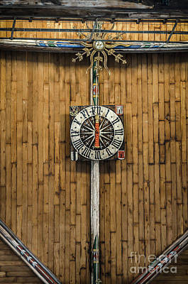 Photograph - Gothic Clock On The Ceiling Of Sint Laurenskerk In Alkmaar by RicardMN Photography