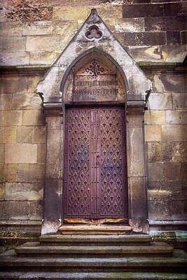 Architectural Detail Photograph - Gothic Door Bratislava Cathedral  by Carol Japp
