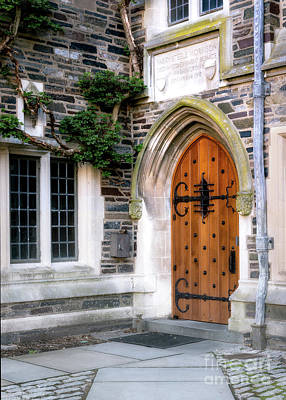 Photograph - Gothic Door Princeton University by Jerry Fornarotto