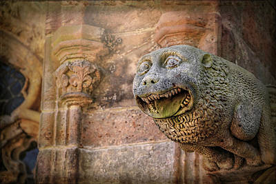 Photograph - Gothic Gargoyle In Scotland by Carol Japp