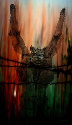Photograph - Gothic Guardian  by Lesa Fine