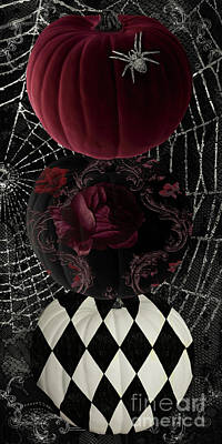 Gothic Halloween Art Print by Mindy Sommers