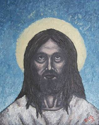 Art Print featuring the painting Gothic Jesus by Michael  TMAD Finney