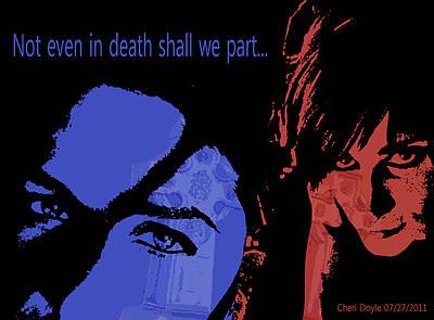 Digital Art - Gothic Love by Cheri Doyle