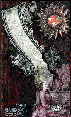 Decoupage Mixed Media - Gothic Punk Goddess by Genevieve Esson