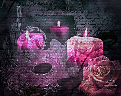 Digital Art - Gothic Romance Magic - Pink by Absinthe Art By Michelle LeAnn Scott