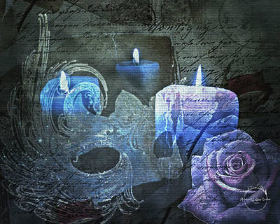 Digital Art - Gothic Romantic Magic - Blue by Absinthe Art By Michelle LeAnn Scott