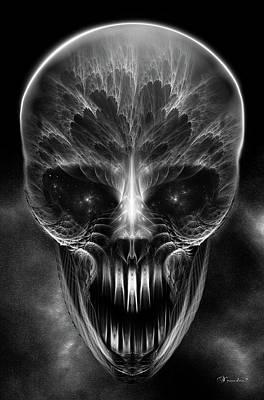 Digital Art - Gothic Skull by Xzendor7