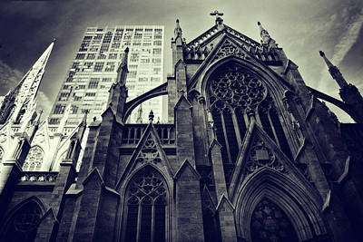 Duo Tone Photograph - Gothic Perspectives by Jessica Jenney