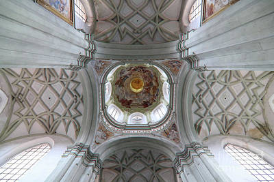 Photograph - Gothic Vault Of The Ceiling - View From Below by Michal Boubin