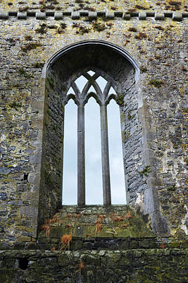 Photograph - Gothic Window Athassel Priory Ireland County Tipperary Medieval Ruins by Shawn O'Brien