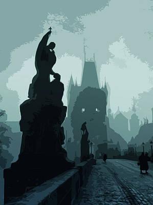 Painting - Gothic Prague - Charles Bridge by Andrea Mazzocchetti