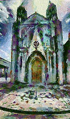 Gotic Church Art Print by Galeria Zullian  Trompiz