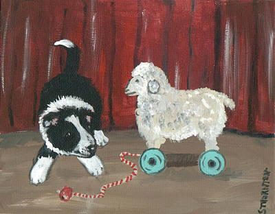 Gots Me A Sheepie Art Print by Sue Ann Thornton