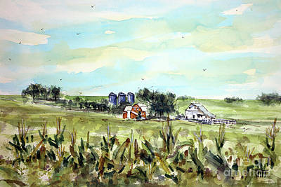 Painting - Gottsch's Green Acres by Tim Ross