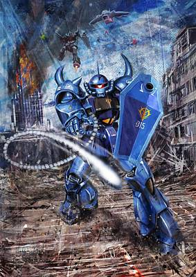 Turin Digital Art - Gouf by Andrea Gatti