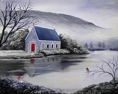 Gougane Barra Church Painting - Gougane Barra Church by Fineartist Ellen