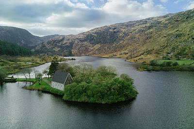 Gougane Barra From Above Art Print by Michael Meade