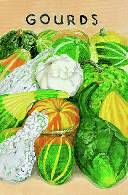 Painting - Gourd Seed Packet by Vicki VanDeBerghe
