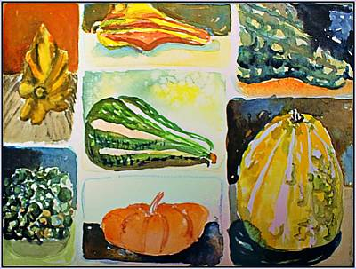 Drawing - Gourdous by Mindy Newman